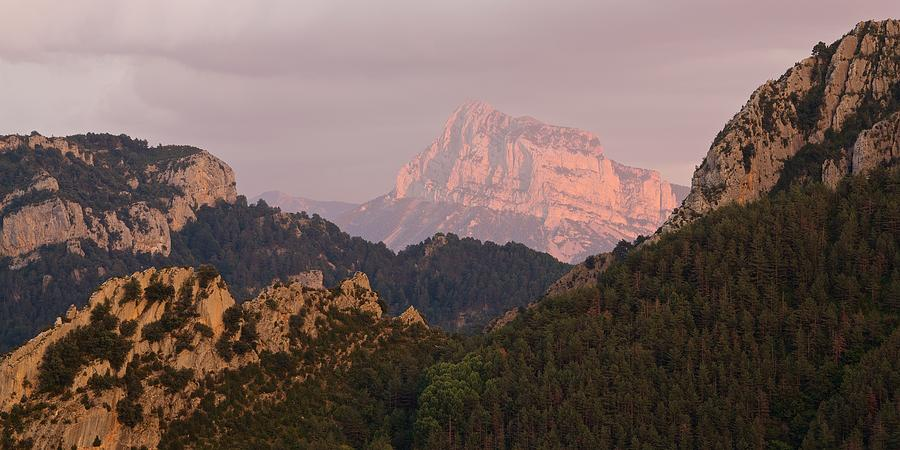 Sunset on Pena Montanesa by Stephen Taylor