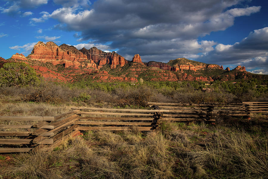 Sunset on Red Rock Formations by Rick Strobaugh