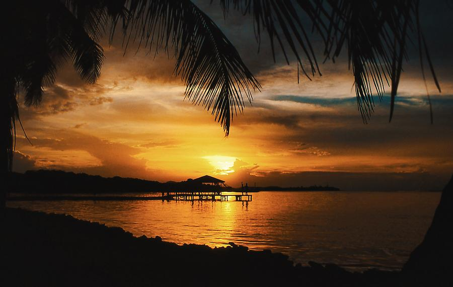 Sunset On Roatan Photograph