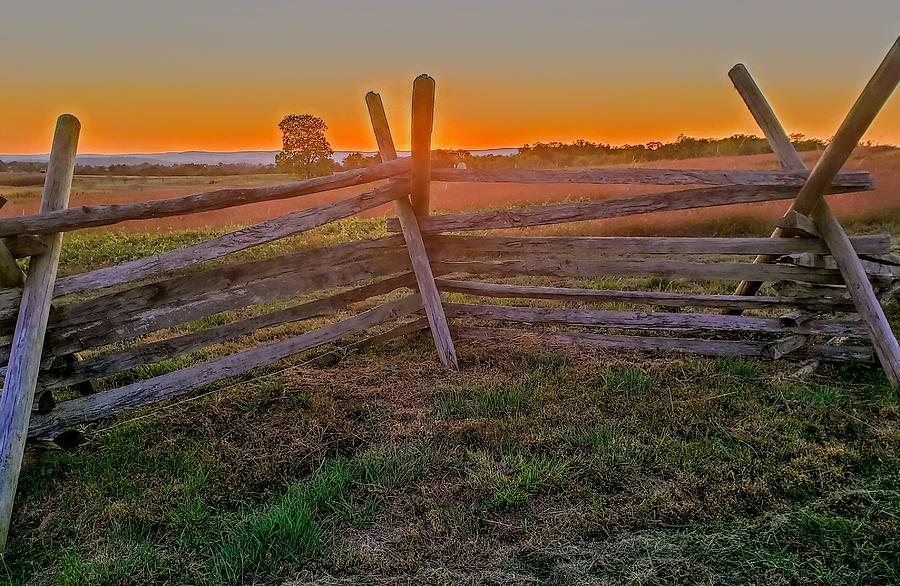 Orange Photograph - Sunset On The Battlefield  by Paul Kercher