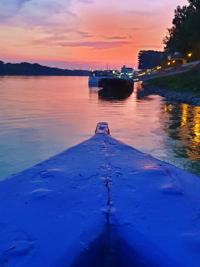 Sunset on the Blue Danube by Andrea Whitaker