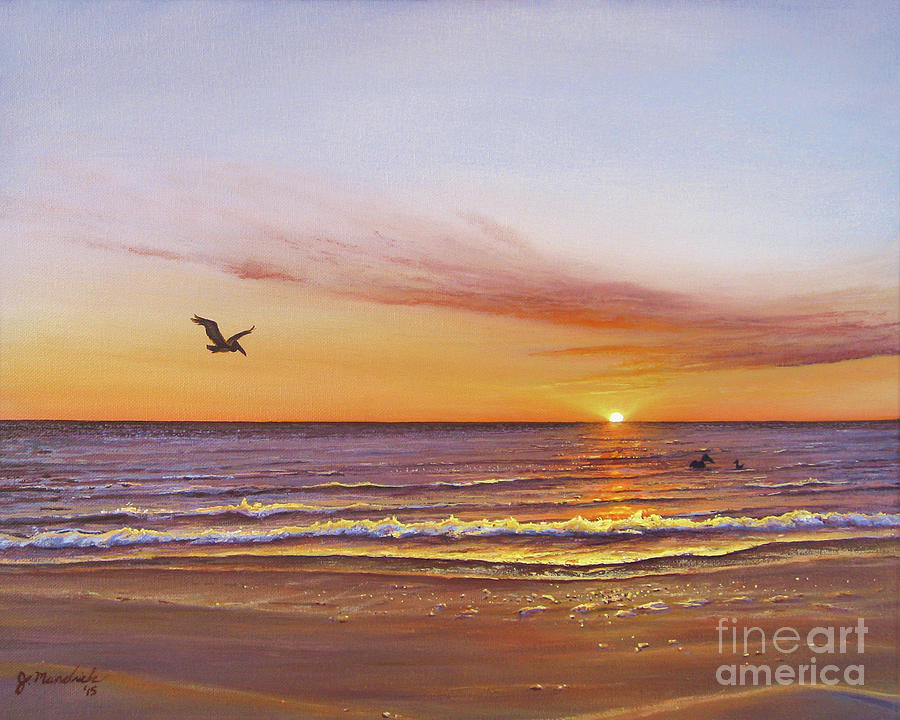 Sunset on the Gulf by Joe Mandrick