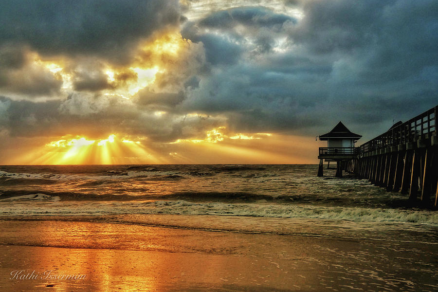 Naples Pier Photograph - Sunset On The Gulf by Kathi Isserman