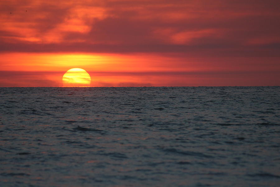 Sunset Photograph - Sunset On The Gulf Of Mexico by Callen Harty
