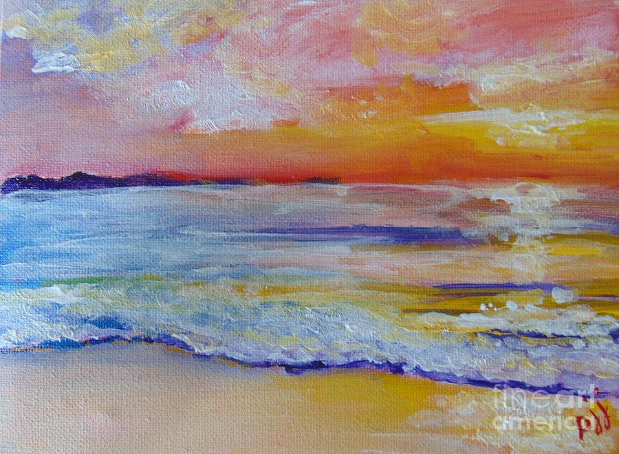Gulf Of Mexico Painting - Sunset on the Gulf by Saundra Johnson