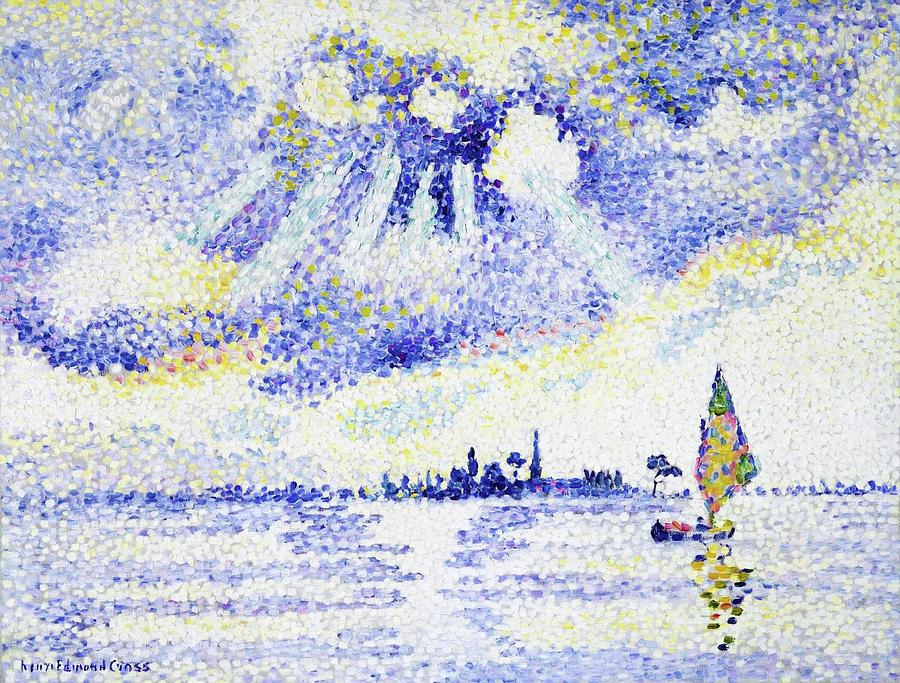 Venice Painting - Sunset On The Lagoon, Venice - Digital Remastered Edition by Henri Edmond Cross