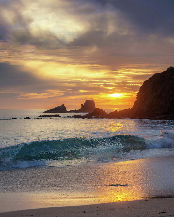 Sunset on the Rocks by Cliff Wassmann