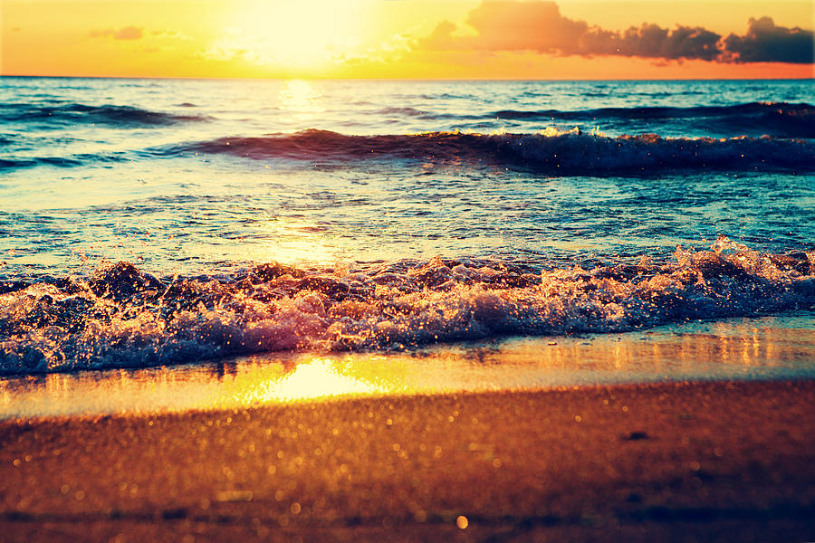 Sunset On The Sea Photograph by Sergeeva