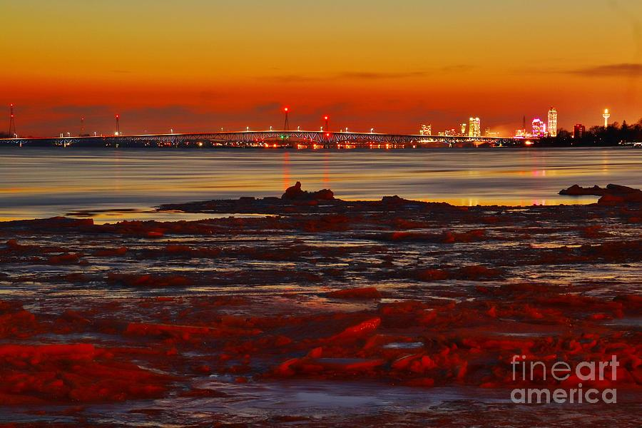 Wny Photograph - Sunset On The Still Frozen Upper Niagara River by fototaker Tony