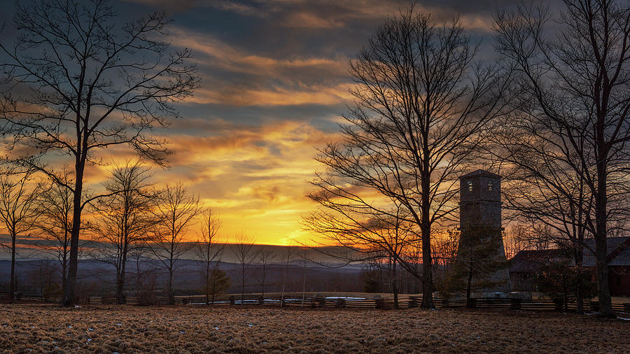 Sunset on the Watch Tower by MIKE MCQUADE