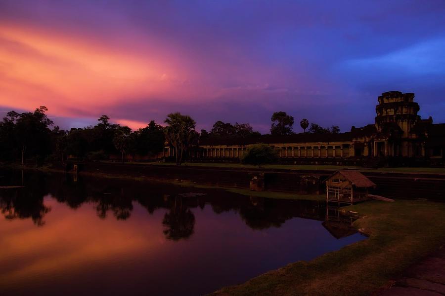 Sunset Over Angkor Wat Photograph by El-branden Brazil