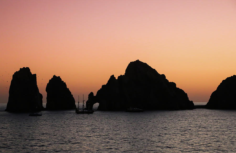 Sunset over Arches of Cabo San Lucas 1 by Dawn Richards