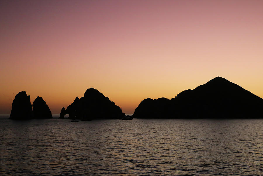 Sunset over Arches of Cabo San Lucas 2 by Dawn Richards