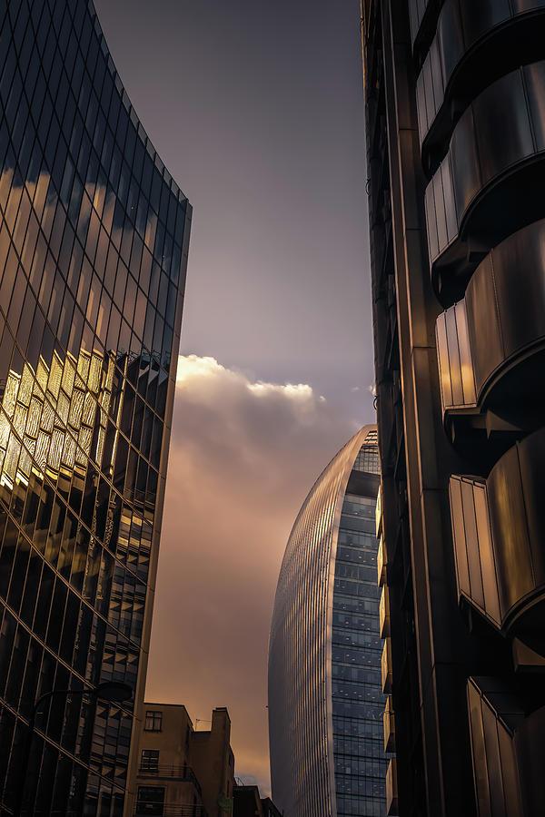 Sunset Over Bank by Chris Fletcher