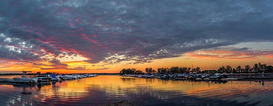 Sunset over Braddock Bay by Mark Papke