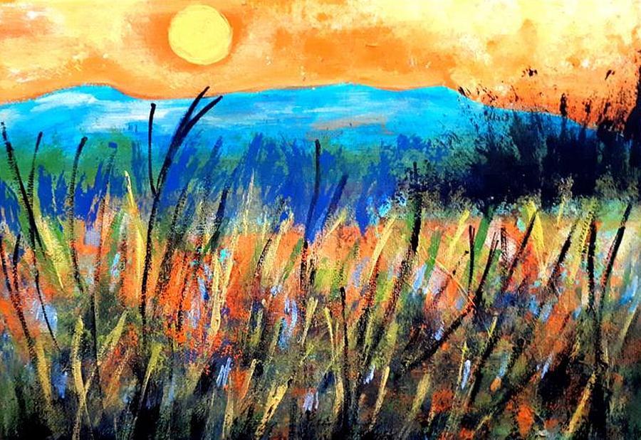 Sunset over Fields by Nikki Dalton