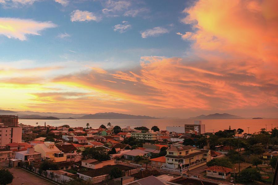 Sunset Over Florianopolis Photograph by Dircinhasw