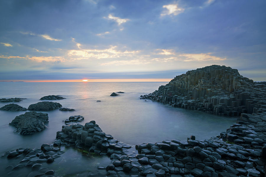 Sunset over Giant's Causeway by Roelof Nijholt
