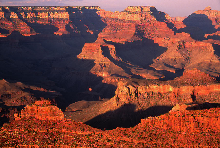 Sunset Over Grand Canyon Photograph by By Tiina Gill