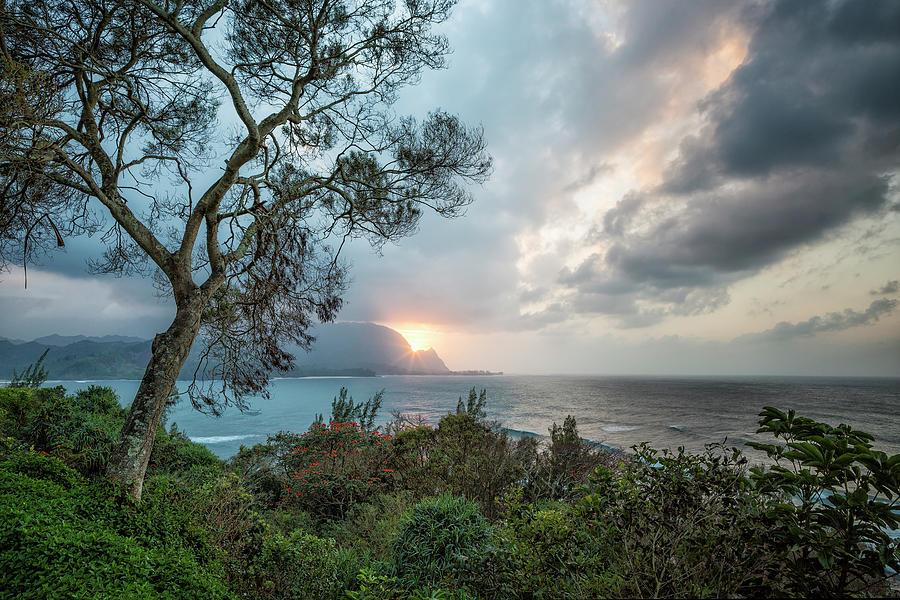 Sunset Over Hanalei Bay from St Regis by Belinda Greb