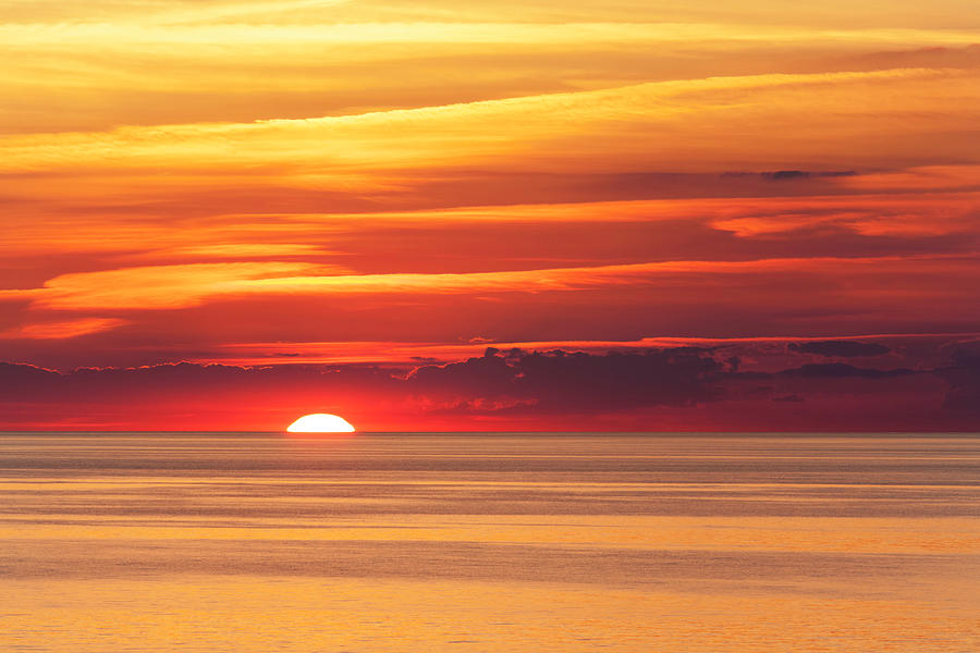 Sunset Over Lake Erie Photograph by Dszc