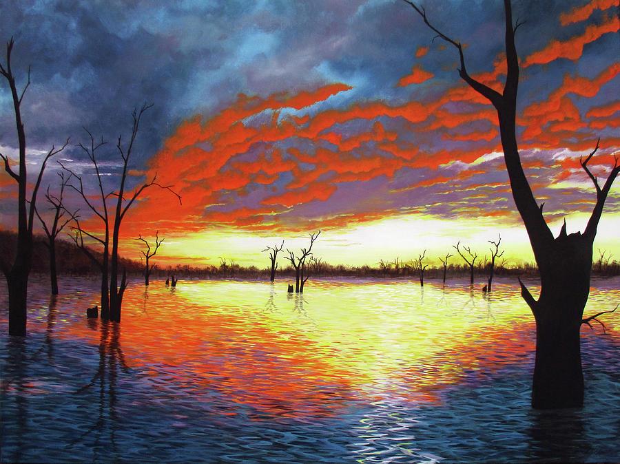 Sunset over Lake Nillahcootie by Debra Dickson