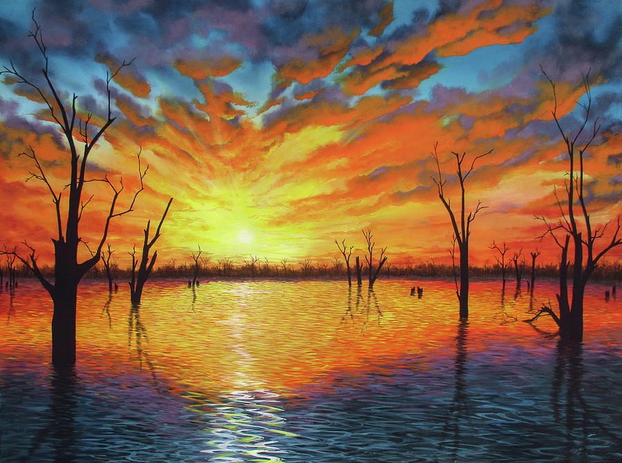 Sunset over Lake Victoria by Debra Dickson