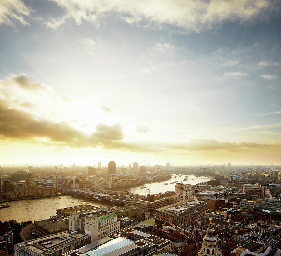 Sunset Over London And The Thames Photograph by Tim Robberts