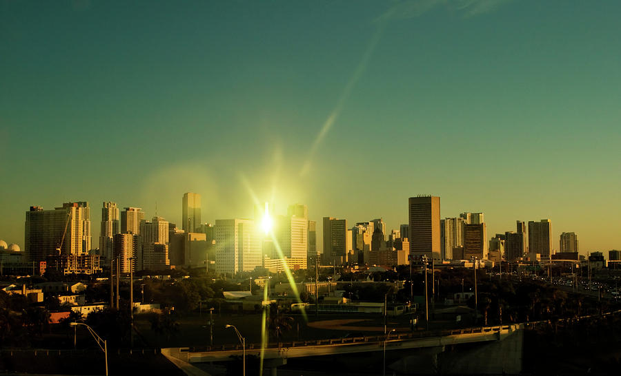 Sunset over Miami, the Magic City by Anna Yanev