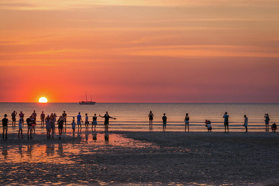 Sunset Over Mindil Beach Photograph