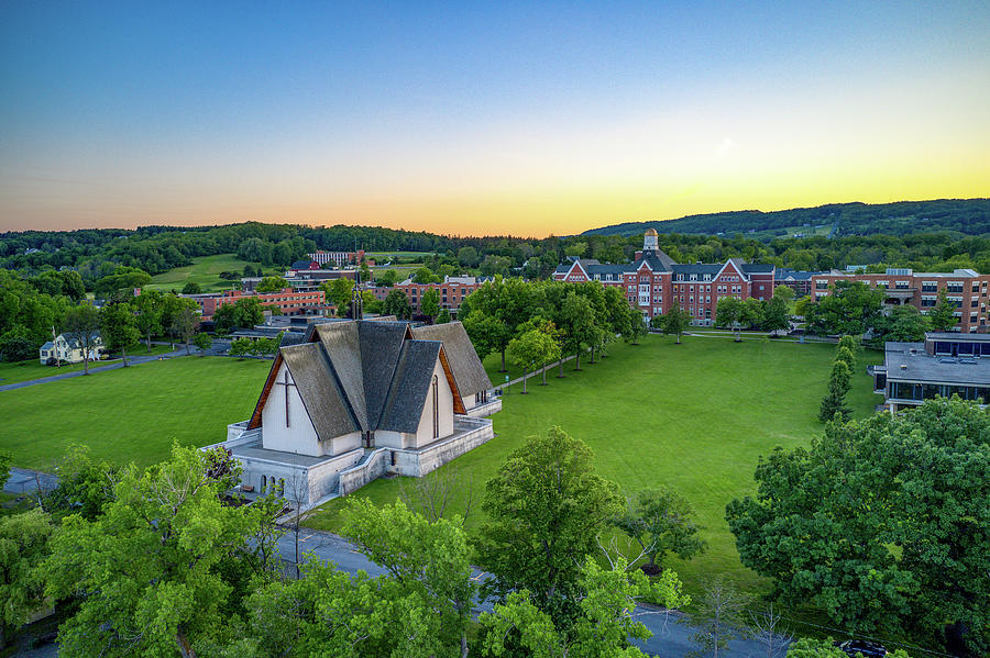 Sunset over Norton Chapel by Ants Drone Photography