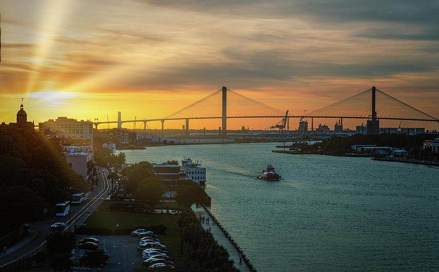 Sunset Over Savannah by Darryl Brooks