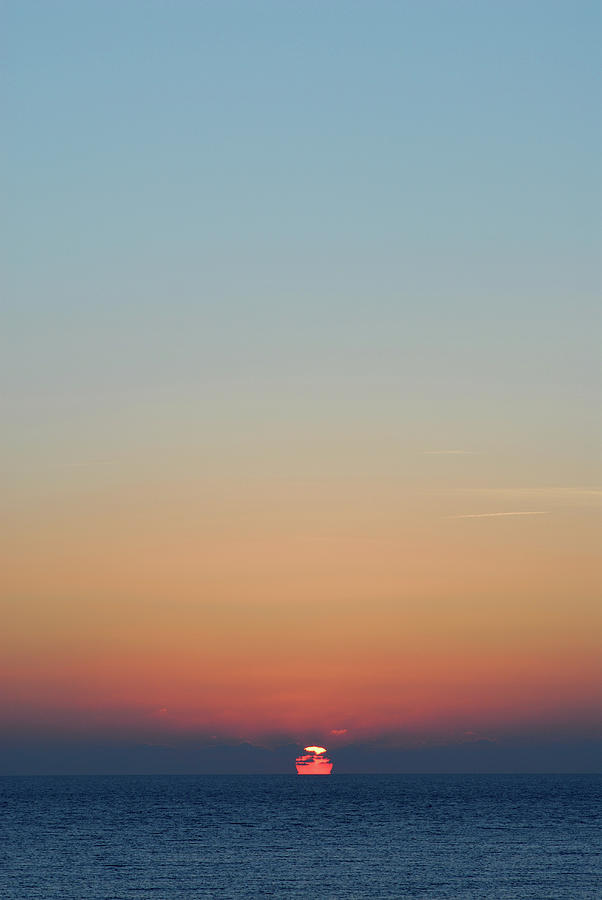Sunset Over Sea In Cyprus Photograph by Lyn Holly Coorg