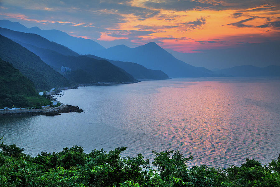 Sunset Over The Coast Of Shenzhen, China Photograph by Feng Wei Photography