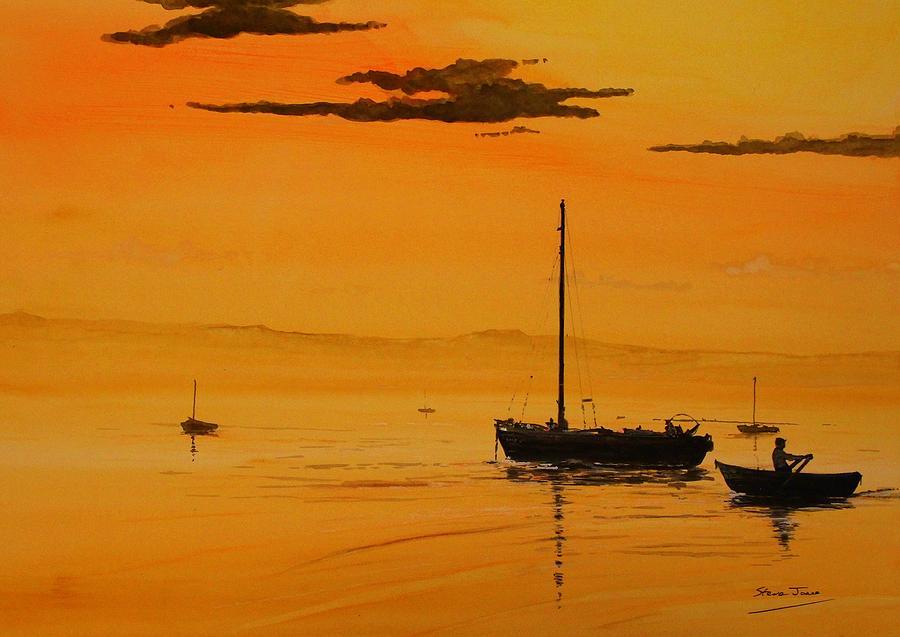 Sunset over the Dee by Steve Jones
