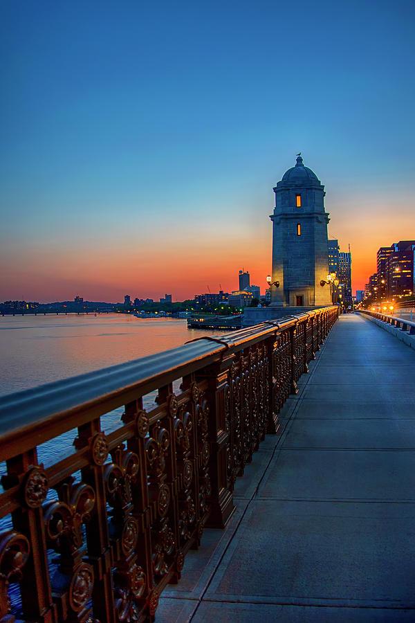 Sunset Over The Longfellow Bridge by Joann Vitali