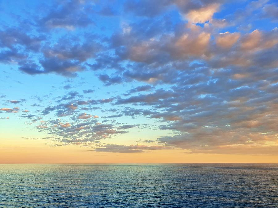 Sunset over the Mediterranean by Andrea Whitaker