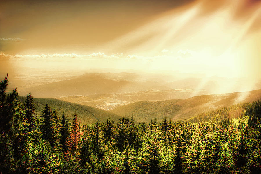 Sunset  Mountain by Anna Yanev