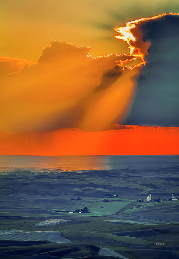 Sunset Over the Palouse by Fred J Lord