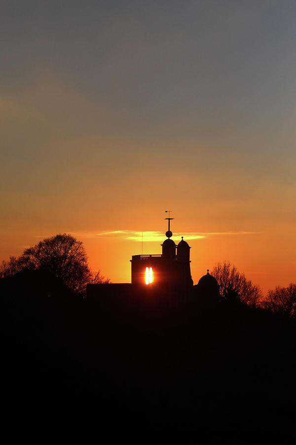 Sunset Over The Royal Observatory at Greenwich Park, London by Aidan Moran