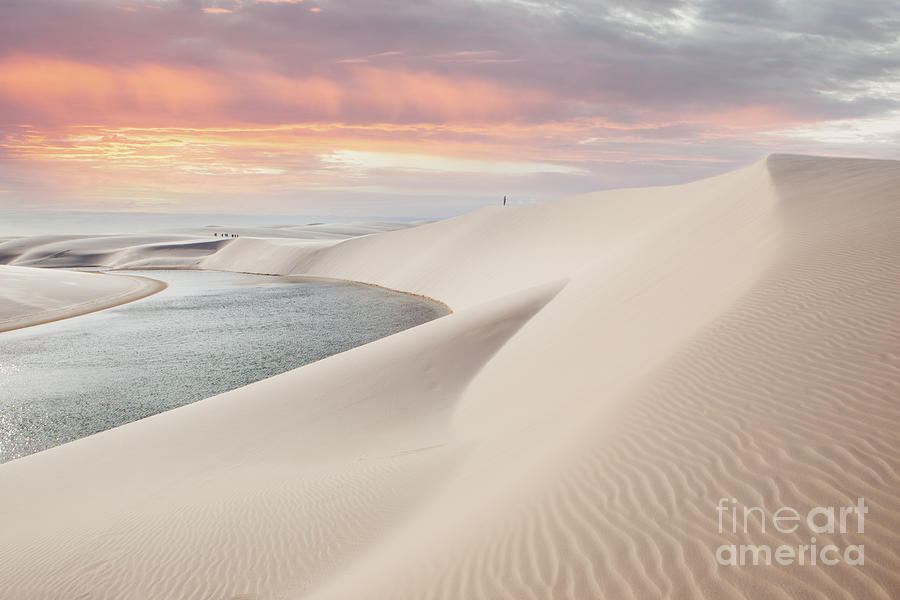 Brazil Photograph - Sunset Over The Sand Dunes And Lagoons by Thanosquest