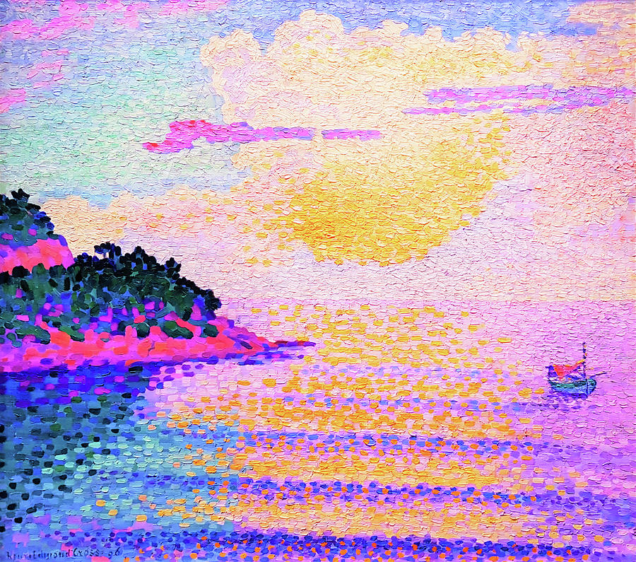Henri Edmond Cross Painting - Sunset Over The Sea - Digital Remastered Edition by Henri Edmond Cross