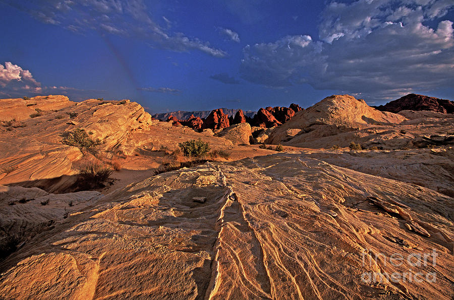 sunset over the valley of fire state park nevada by Dave Welling