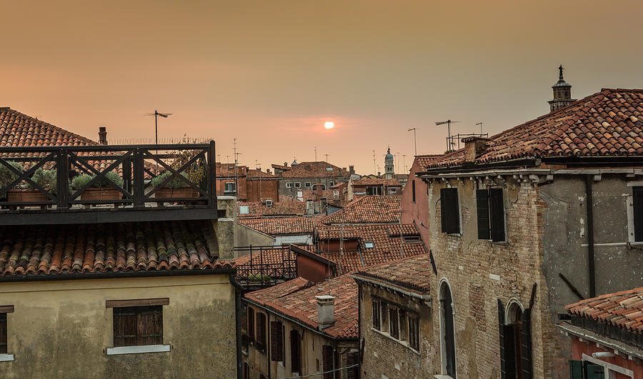 Sunset over Venezia by John Lattanzio