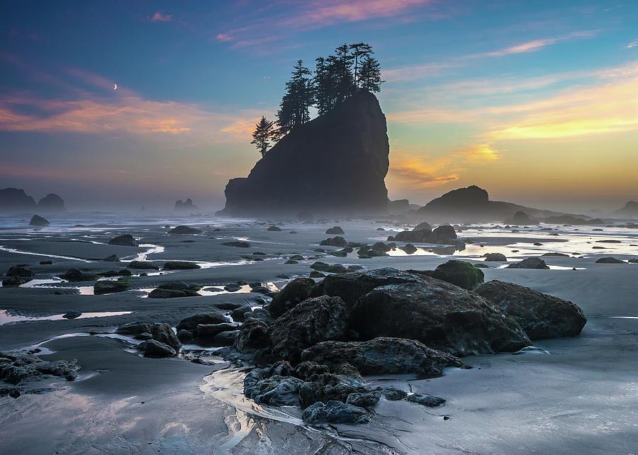 Sunset - Pacific Northwest Coast Photograph