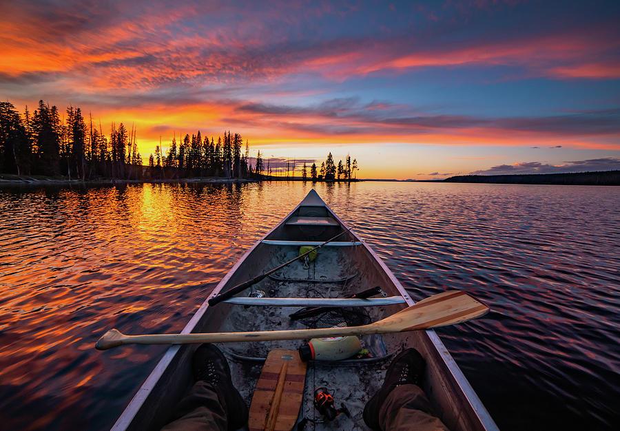 Sunset Photograph - Sunset Paddle by Peter Mangolds