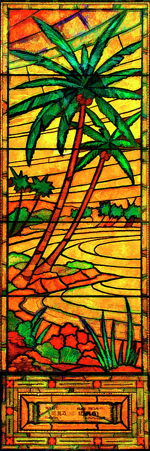 Sunset Palms by Rick Wicker