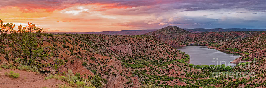 Sunset Panorama Of Santa Cruz Lake - Cundiyo Chimayo New Mexico Land Of Enchantment Photograph