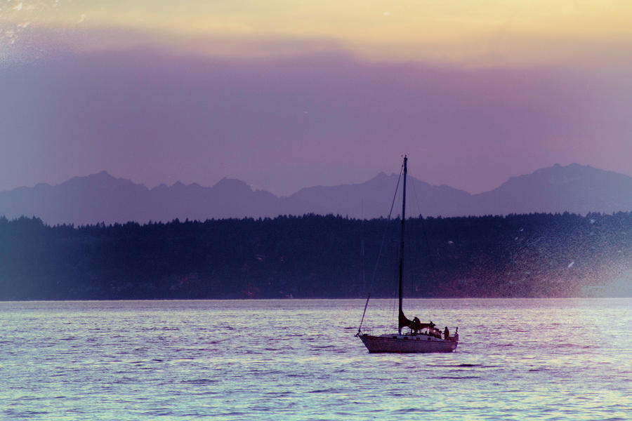 Sunset Puget Sound by Cathy Anderson