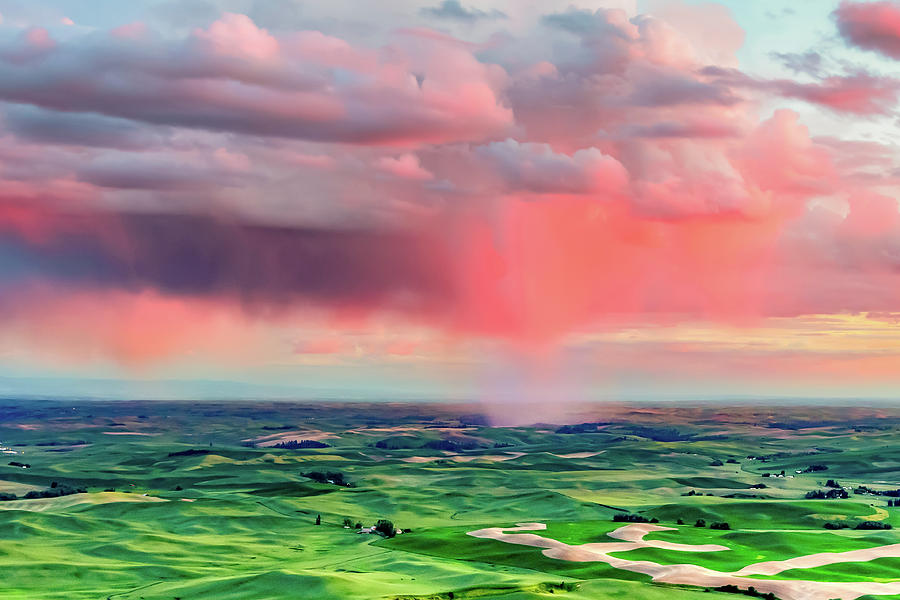 Sunset Rain over the Palouse by Bryan Carter